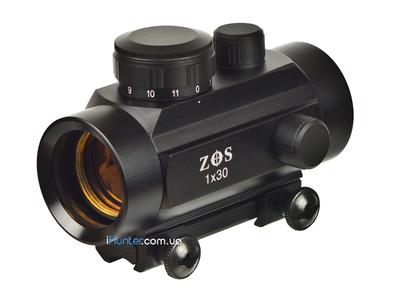 Коллиматорный прицел ZOS 1x30 на ласточкин хвост