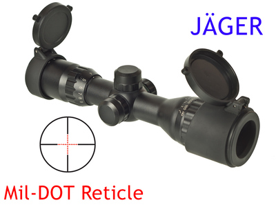 Оптический прицел JÄGER 3-9x32 AOL переменной кратности с отстройкой параллакса и подсветкой шкалы