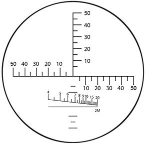 угломерная шкала бинокля